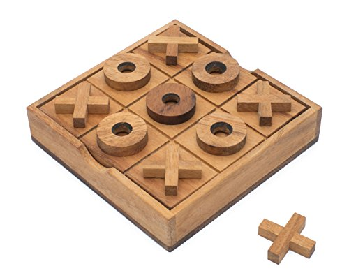 Old Fashioned Wooden Blocks (Wooden Tic Tac Toe XOXO: Handmade & Organic Traditional Wood Game for Adults from)