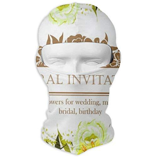 YIXKC Balaclava Floral Invitation Cool Windproof Ski Mask for Women Skiing