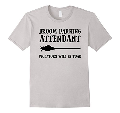 Halloween Pun Costumes Creative (Mens Broom Parking Attendant Funny Halloween Costume T-shirt Small)
