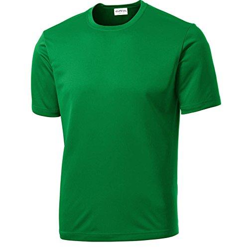 Clothe Co. Mens Big & Tall Short Sleeve Moisture Wicking Athletic T-Shirt, 4XLT, Kelly Green