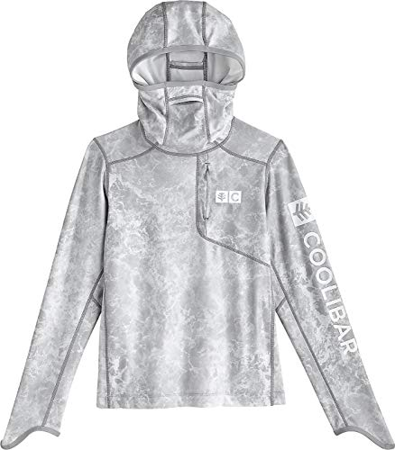 Coolibar UPF 50+ Kids' Andros Fishing Hoodie - Sun Protective (Medium- Grey Water)