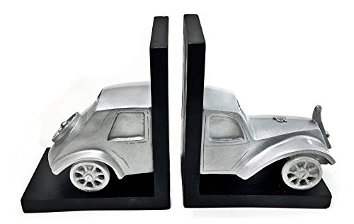 Car bookends for kids Vintage Style Car Books ends Paper Weights Book decor Sculptures for Book Self Liabrary 2 Sample Library Dvd