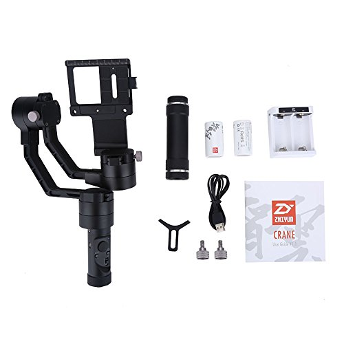 Camera Handheld Stabilizer, Video Steady Gimbal Holder 360 Degree Rotatable Ergonomic Holder Fits for Sports Cameras,Phones by VGEBY