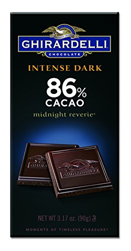 Ghirardelli Chocolate Intense Dark Bar, Midnight Reverie 86% Cacao Bar, 3.17-Ounce Bars (Pack of 6) (86)
