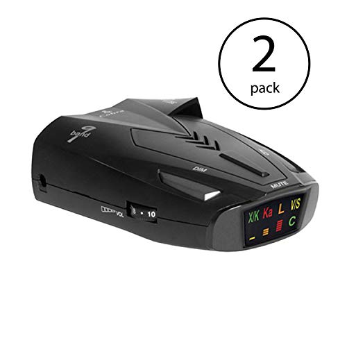 Cobra 9 Band Laser Police Radar Detector with Safety Alert & LaserEye | ESD9275 (2 Pack) (Best Undetectable Radar Detector)