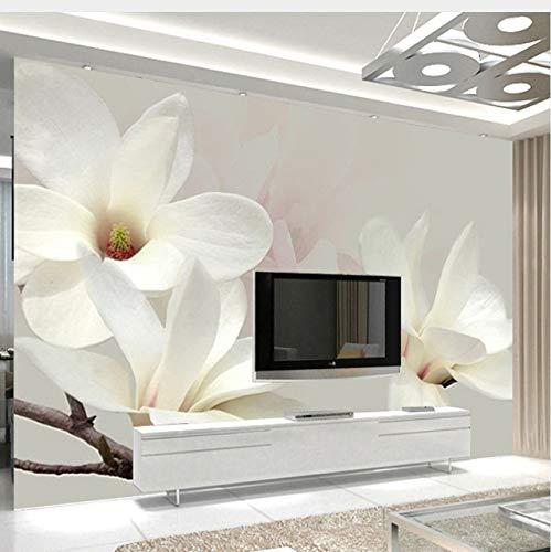 Lifme Custom Photo Mural Wallpaper Modern Fashion Lily Flower 3D White Magnolia Flower Wall Painting Living Room Wall Murals Wallpaper-120X100Cm