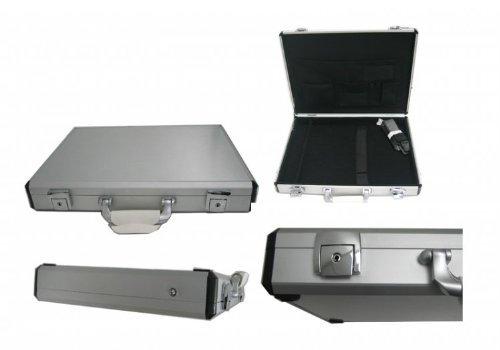 17 Inch Aluminum Laptop Case (Silver Slim Style Aluminum Laptop Breif Case For 15-17