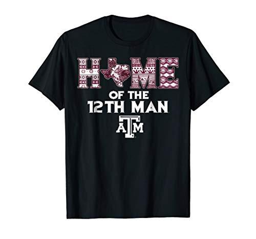 Texas A&m Pattern - Texas A&M Aggies Home Of The 12Th Man Pattern T-Shirt