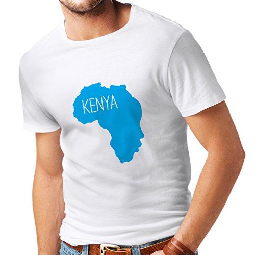 lepni.me Camisetas Hombre Salvar Kenia - Camisa política, Refranes de la Paz (XXXXX-Large Blanco Azul)