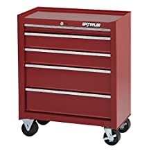 "Waterloo Shop Series 5-Drawer Tool Cabinet, Red Finish, 26"" W"