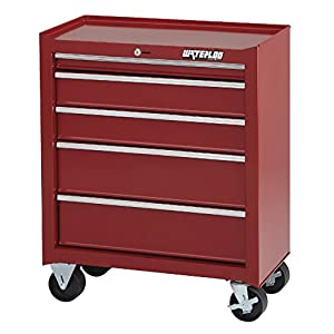 "Waterloo Shop Series 5-Drawer Tool Cabinet, Red Finish, 26"" W - Designed, Engineered and Assembled in the USA"