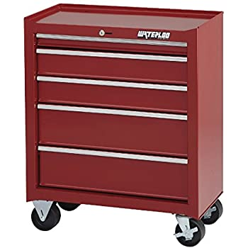 """Waterloo Shop Series 5-Drawer Tool Cabinet, Red Finish, 26"""" W - Designed, Engineered and Assembled in the USA"""