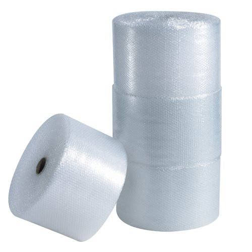 Partners Brand PBWUP12S12P UPSable Perforated Air Bubble Rolls, 1/2'' x 12'' x 125', Clear (Pack of 4) by Partners Brand