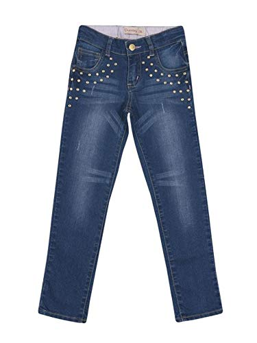 Calça Jeans com Strass Quimby