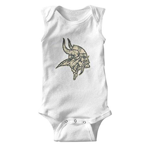 UUTTAA White Sleeveless Funny 100% Organic Cotton Bodysuit Onesies Playsuit for Baby Boys Babygirls