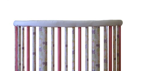 Oval Crib Set - Go Mama Go Designs Oval Crib Teething Guard Set, White/Yellow