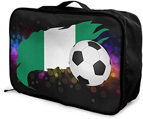 Balón de fútbol con la Bandera de Nigeria Lage Bag Capacidad ...
