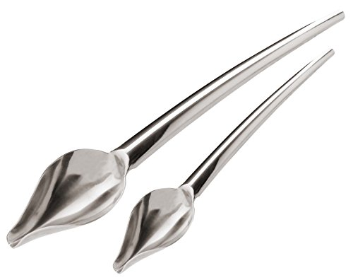 - Paderno World Cuisine Stainless Steel Drawing Spoons, Set of 2