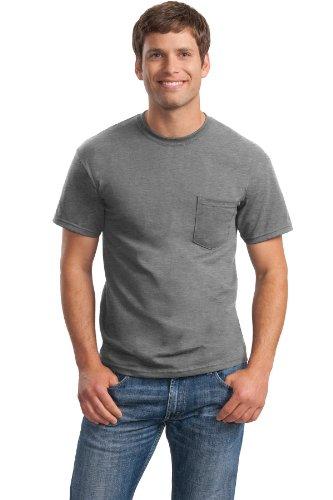 /50 Ultra Blend Pocket Tee Shirt, 3XL, Sport Grey (50 Ultra Blend Pocket)
