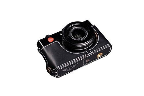 TP LEICA ライカ D-LUX6 用本革カメラケース(電池,SDカード交換可) ブラック  カメラケース&ストラップTP1881 B01K4OZWEK