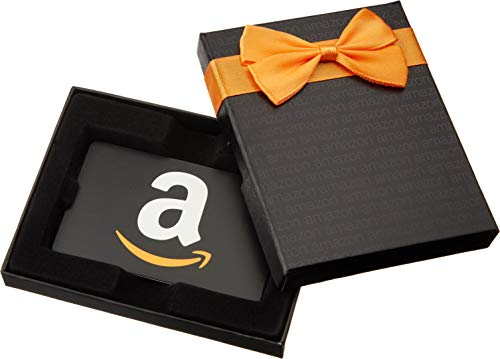 Amazon.com Gift Card in a Black Gift Box (Classic Black Card Design)