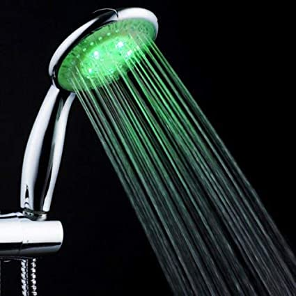 Water Glow LED light Shower head LED Multicolor 7 Colors Rainbow Shower head Lord of the Deals