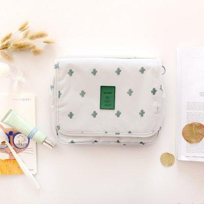 LULAN Reisen Eitelkeit Kosmetiktasche Männer und Frauen outdoor portable Travel wasserdichte Vielseitig große Tasche, 24 * 20 * 9,5 cm, Kakteen