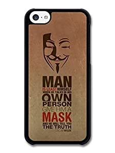 AMAF ? Accessories Anonymous Mask The Truth Oscar Wilde Life & Love Inspirational Quote case for iPhone 5C