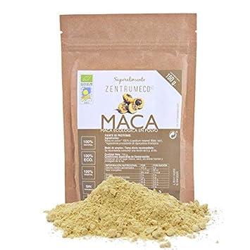 Maca en polvo ecológica para mejorar la memoria, la libido y el deseo sexual - Superalimento vegano libre de alérgenos - Superfood 100% ecológica para ...