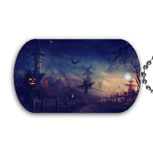Halloween Pumpkin creepy scary Dog Tag with 30