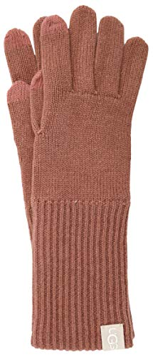 (UGG Women's Long Knit Tech Gloves Lantana Pink One Size)