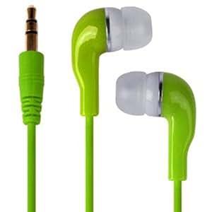 Direct-2-Your-Door - HTC Nexus 9 Ultra Bass MP3 jack de 3.5mm en la oreja los auriculares Auricular Bud - Verde