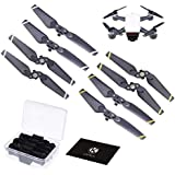 CamKix Propellers Replacement for DJI Spark - 2 Sets (8 Blades) - with Convenient Storage Box - Quick Release Foldable Wings