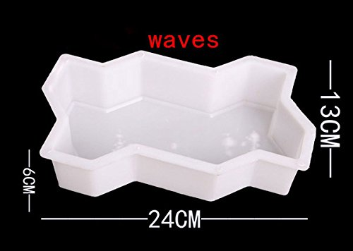 2pcs-wave-shape-garden-diy-walking-path-maker-cement-brick-mold