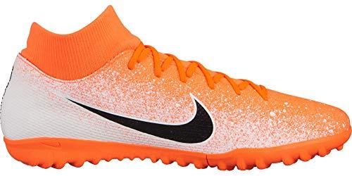 (Nike Mercurial SuperflyX 6 Academy Turf Shoes (11 D US, Hyper Crimson/White/Metallic Silver/Black) )