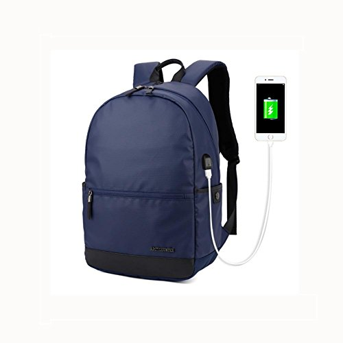 Waterproof port Rucksack Oxford cloth Backpack inch Business Laptop charging 6 15 Casual With Blue USB wqOzIa
