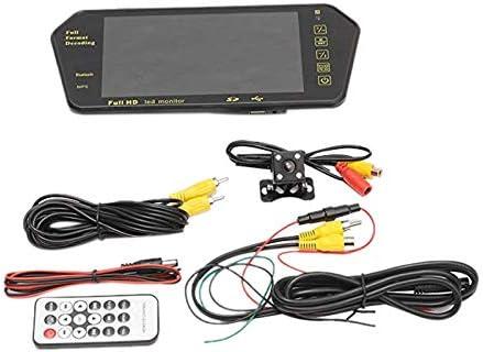 Shumo Coche 7 Pulgadas Tft LCD Color Espejo Jugador Mp5 Viedo Monitor Pantalla Retrovisor del Coche Espejo Inversi/ón La C/ámara Auxiliar