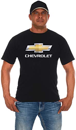 - JH DESIGN GROUP Men's Chevy Bow Tie Black Crew Neck T-Shirt (2X, Black)