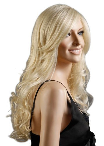 Premium wigs liap Wig long curly hair in light gold Dance Carnival