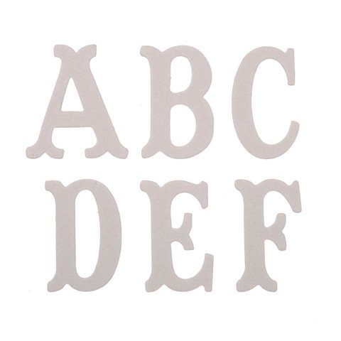 - Package of 52 Stylish Chipboard Letters Are Perfect for a Variety of Do-it-yourself Projects.