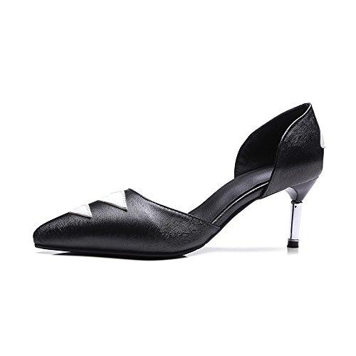 Fashion HeelPump Shoes - Sandalias con cuña mujer negro