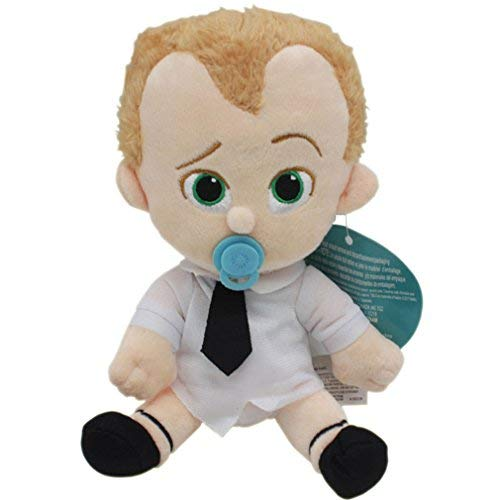 Lcoco&Dream Plush Boss Baby Stuffed Toy Children's Puppy Dog Dolls Gift for Kids White