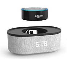 Amazon Echo Dot 2nd Generation Bedside Speaker with USB Charging Port and LED Clock (Only Supports 24 Hour Military Time Format)