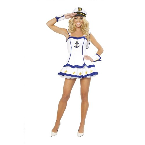 Sailor Costume Pin Up 40s (Sailor Captain Adult Costume -)