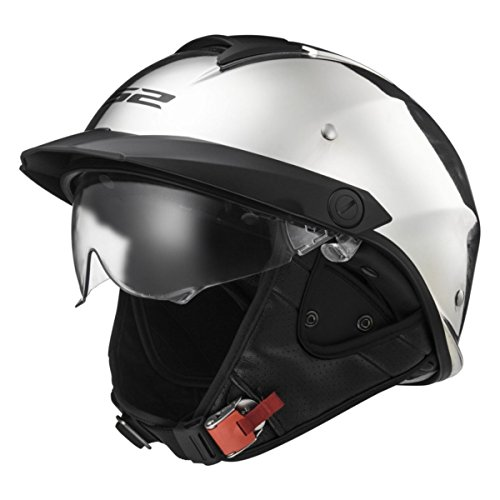 LS2 Helmets Rebellion Unisex-Adult Half Helmet Motorcycle Helmet (Chrome, Medium)