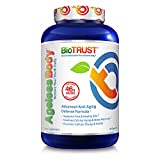 BioTrust Ageless Body Anti-Aging Supplement | Turmeric Curcumin Extract, CurcuWIN, CoQ10 and Vitamin C | Collagen Production Support | Non GMO, Soy and Gluten Free Turmeric | 60 Capsules For Sale