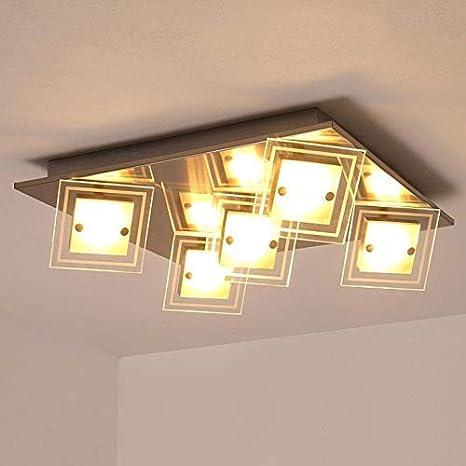 Lámpara LED de techo para salón, cocina, pasillo, 40 x 40 ...