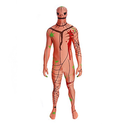 Morphsuits Men's Pumpkin Adult, Multi, Medium ()
