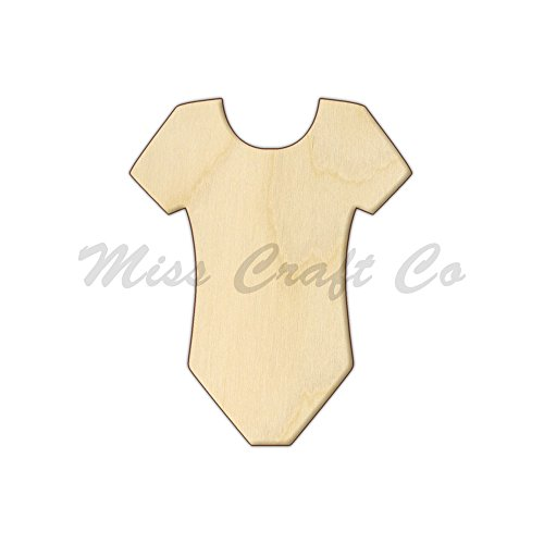 Onesie Wood Shape Cutout, Wood Craft Shape, Unfinished Wood, DIY Project. All Sizes Available, Small to Big. Made in the USA. 12 X 9.7 INCHES