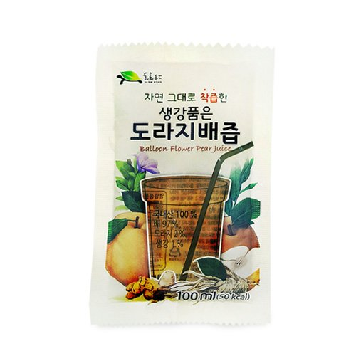 Ginger Pear - SLOWFOOD Balloon Flower Pear Juice With Ginger 100ml x 30 pack (도라지 배즙)